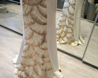 Tribal fusion white mermaid skirt