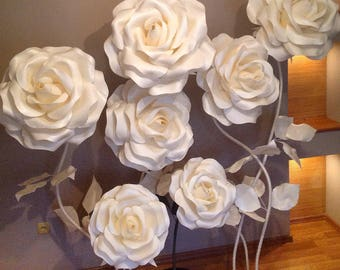 Flower stand etsy large flowers giant paper flower big flowers wedding decoration stand with flowers flowers wiht stem standing flowers stemmed flowers izolon junglespirit Image collections