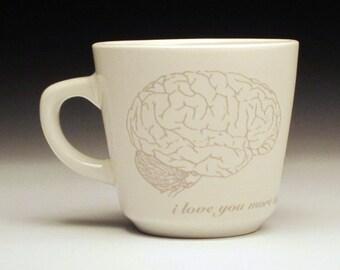 zombies love brains teacup in GHOSTIE GREY