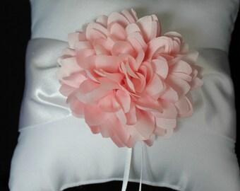 Cream or White Ring Bearer Pillow  Blush