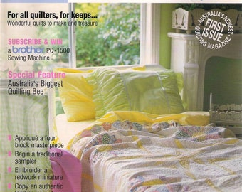 Quilter's Companion vol 1 no 1 October 2001, sewing magazine, quilt instructions, quilting magazine, quilts, patchwork patterns