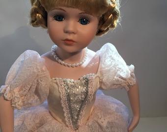 Vintage Fine Porcelain Ballerina Doll