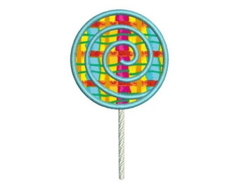 Applique Lollipop Candy Machine Embroidery Designs 4x4 & 5x7 Instant Download Sale