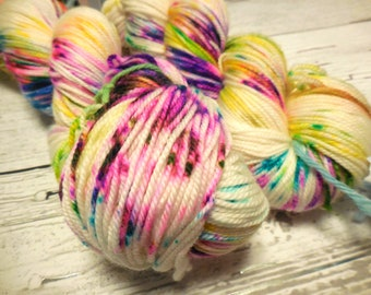 "Sporty sport weight yarn in ""Love's Roller Coaster Train"" by AnniePurl"