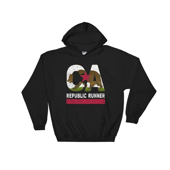 California Republic Runner Hooded Sweatshirt - Unisex - California Runner - Hoodie