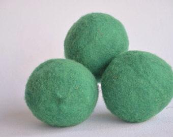 Eco Friendly Dryer Balls - Eco Friendly Gift - Kelly Green Dryer Balls