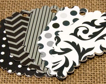 Black and White Gift Tags