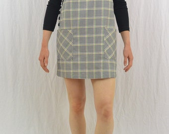 Vintage Plaid Mini Jumper, Size Small-Medium, 90's Clothing, Grunge, Hipster, Mori Girl, Indie Clothing, Tumblr Clothing