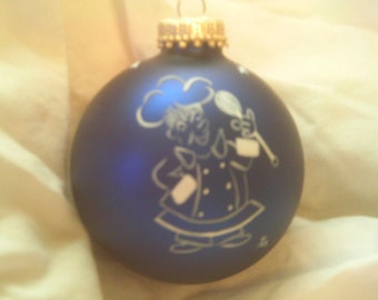 Handpainted Chef on a Christmas ball
