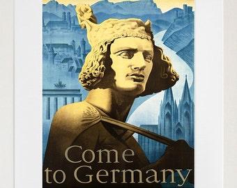 Germany Travel Poster German Art Print Vintage Home Decor (ZT203)
