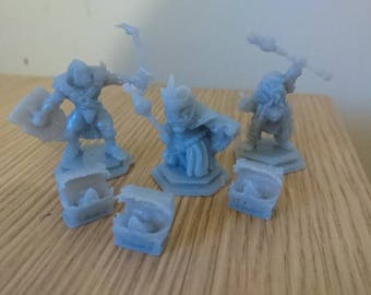 Chest Mimic Dungeons and dragons miniature. Set of 3 28mm