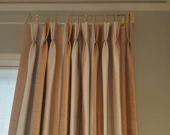 Custom Length Rectangle Acrylic Drapery Rod,  Rectangular drape rod, Rectangle curtain rod