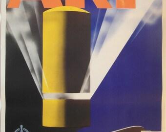 Original 1938 Art Deco WW2 Home Office 'ARP' Air Raid Precaution Poster by Pat Keeley