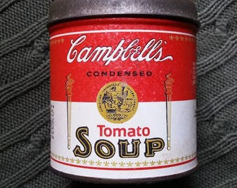 Campbell's Soup Collectibles Soup can Candel Tin Vintage Advertising