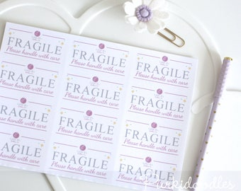 Fragile Labels - customised with your company branding. Logo, Stickers, Labels, Packaging, Adhesive, Distribution, Parcel, Wrapping