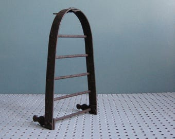 A vintage French flat iron trivet, french country decor, vintage decor