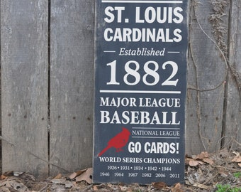 St. Louis Cardinals baseball hand painted sign - Cardinals fan sign - Cardinals wood sign