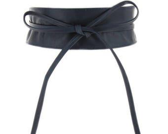 Cowhide Leather Obi Cassiane  Belt.