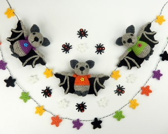 Halloween Bat Bunting - Amigurumi Crochet Pattern