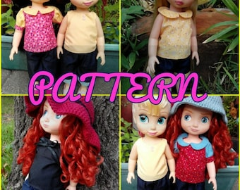 Pants, Shorts, and Capris Pattern Pack SEWING PATTERN fits Disney Animator Collection Doll, Doll Clothes Pattern, 16 Inch Doll,Animator Doll