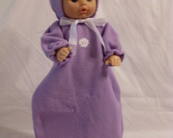 """15-16"""" Lavender Bunting and Hood Set"""