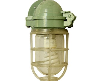 Olde single green nautical sconce