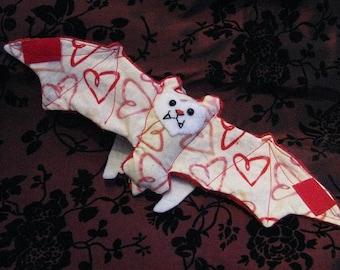 Valentine's Day Bat Cup Sleeve\/Cozie