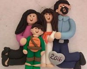 Custom Family Personalized Wall Hanging/Ornament from your photo or description
