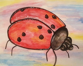 Watercolor Painting: Lady Buggin'