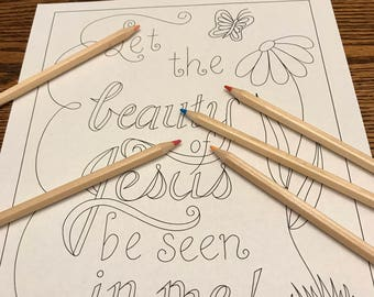 Coloring Page Let The Beauty Of Jesus Be Seen In Me