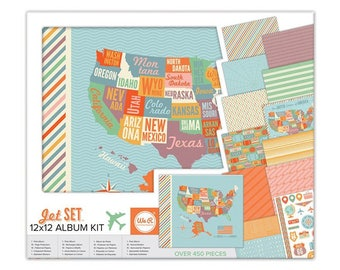 We R Memory Keepers 12x12 Album Kit - Jet Set