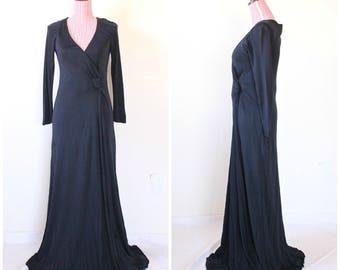 1960s VINTAGE Dress / Designer / Shannon Rodgers for Jerry Silverman / Navy Blue