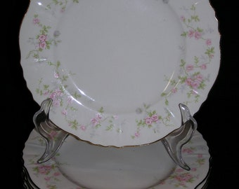 Set of 8 Vintage Hanover China PRIMROSE Salad / Dessert Plates - 8""