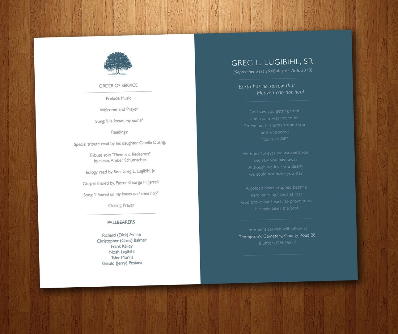 Funeral Program Design Ideas Elegant Memorials