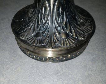 Large Vintage Ornate Lamp Base / DIY / Lamp parts