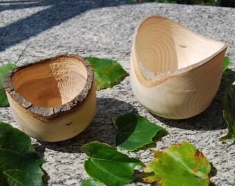 Ciotole in legno con corteccia, Tornitura legno, Woodturning, Homemade, Rustic Home Decor, Bowls, Made in Italy