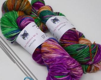 Papillon: Hand Dyed Yarn, Sock Yarn, Hand Dyed Sock Yarn, Shawl Yarn, DK, Light Worsted