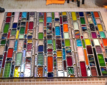 Outdoor Stained glass window panels CUSTOM ORDERED