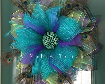 Tutorial for the Peacock Wreath by A Noble Touch, DIY Tutorial, Instructional Video for Peacock Wreath by A Noble Touch