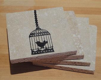 Little Black Bird -- Set of 4 Coasters