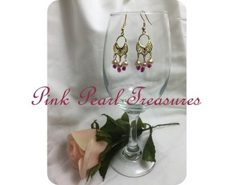 Pink Perfection fringe earrings