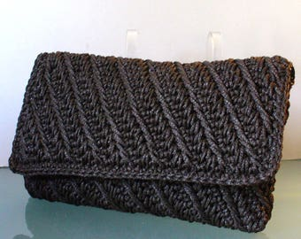 Vintage Crocheted Cording Made in Japan Clutch