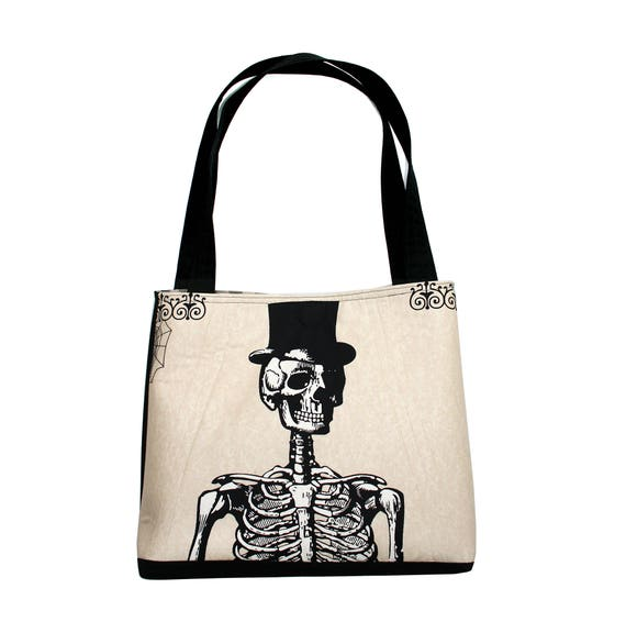 Dia de los Muertos, Halloween, skeleton, large tote, tote bag, travel bag