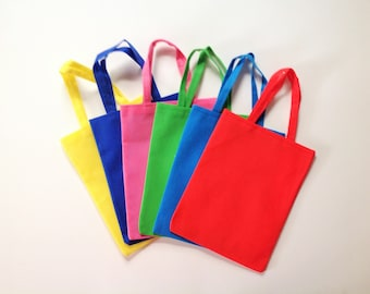 "24 Pcs Small Party Favor Bags 9""X7"" Party Bag Fillers Mini Tote Reusable Bag Party Favors Treat Bags Candy Bags Goodie Bags Mixed Colors"