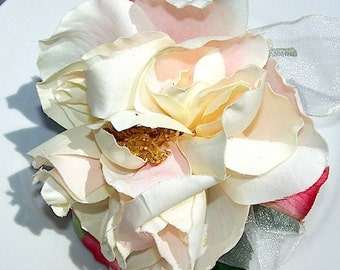 English Garden Rose Silk Mothers Corsage
