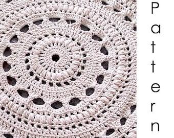 Crochet pattern Pdf- doily crochet rug