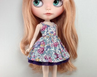 Claire Aude in Purple and Pink - Sweetheart V2 - Liberty of London Dress by Blythette