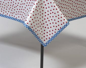 Square Dot Red Tablecloth or Splat Mat
