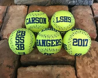 Senior Night Gift, Custom Embroidered Softball, Custom Softball, Softball, Custom Embroidered Baseball, Embroidered Baseballs, Softball