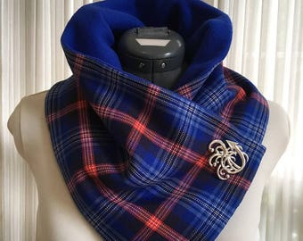 DAR Tartan Plaid Neck Warmer